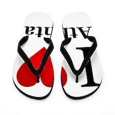 I Love Atlanta Flip Flops