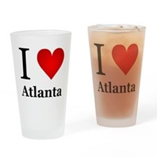 I Love Atlanta Drinking Glass