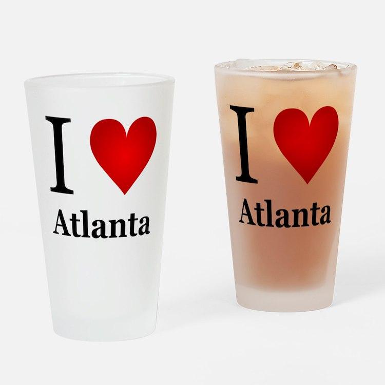 I Love Atlanta Drinking Glass
