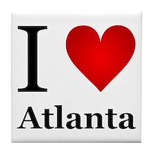 I Love Atlanta Tile Coaster