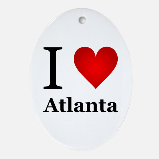 I Love Atlanta Ornament (Oval)