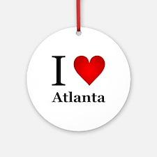 I Love Atlanta Ornament (Round)