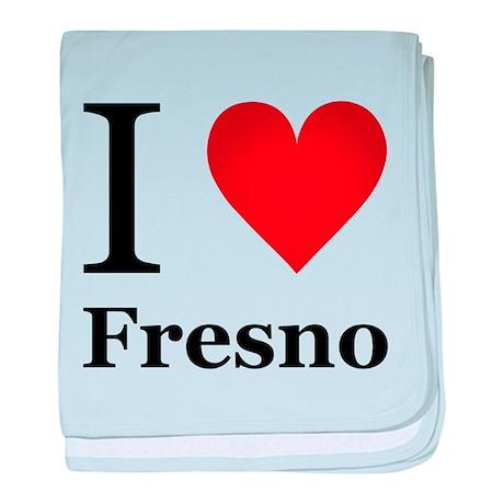 I Love Fresno baby blanket
