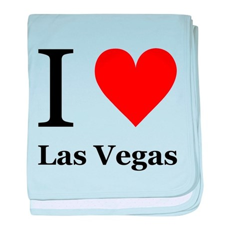 I Love Las Vegas baby blanket