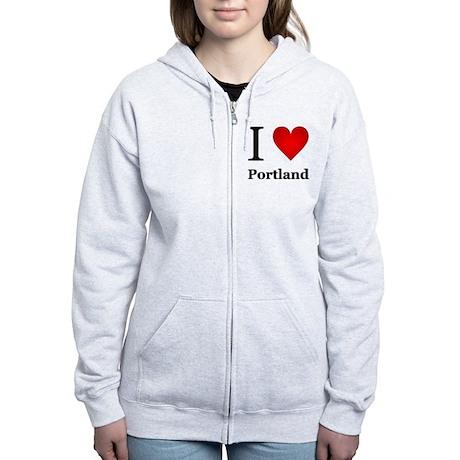 I Love Portland Women's Zip Hoodie