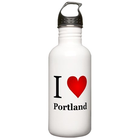 I Love Portland Stainless Water Bottle 1.0L