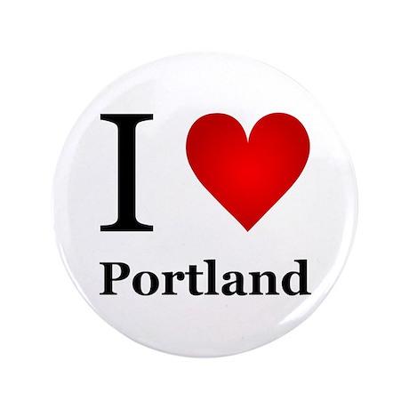 """I Love Portland 3.5"""" Button"""
