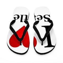 I Love Seattle Flip Flops