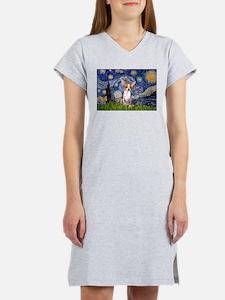 Starry Night Chihuahua Women's Nightshirt