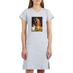 MidEve / Collie (Sbl-Wht) Women's Nightshirt