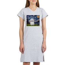 Starry Night Coton de Tulear Women's Nightshirt
