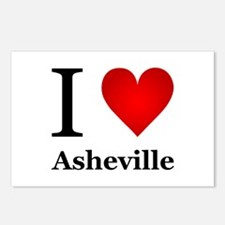 I Love Asheville Postcards (Package of 8)