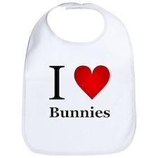 I Love Bunnies Bib
