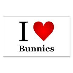 I Love Bunnies Decal