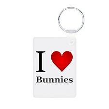 I Love Bunnies Keychains