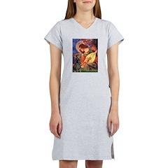 Mandolin Angel & Dobie Women's Nightshirt