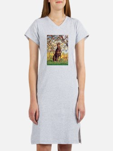 Spring / Doberman Women's Nightshirt