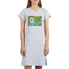 Irises / Eskimo Spitz #1 Women's Nightshirt