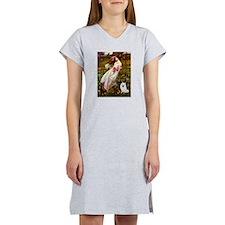 Windflowers / Eskimo Spitz #1 Women's Nightshirt