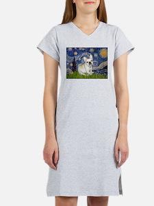 Starry / Fr Bulldog (f) Women's Nightshirt