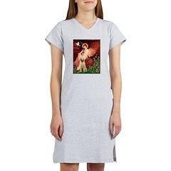 Seated Angel /Italian Spinone Women's Nightshirt