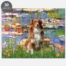 Lilies2-Aussie Shep (#4) Puzzle