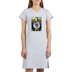 Mona Lisa / Keeshond (F) Women's Nightshirt