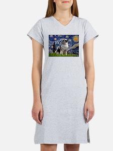 Starry / Keeshond Women's Nightshirt