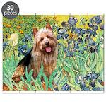 Irises - Aussie Terrier Puzzle