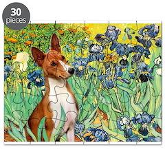 Basenji in Irises Puzzle