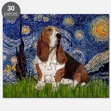 Starry Night & Basset Puzzle