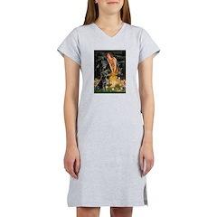Fairies & Black Lab Women's Nightshirt