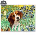 Irises & Beagle Puzzle