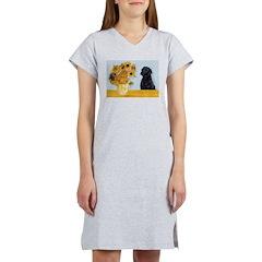 Sunflowers / Lab Women's Nightshirt
