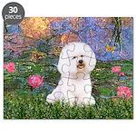 Lilies 4 / Bichon 1 Puzzle