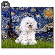 Starry Night Bichon Puzzle