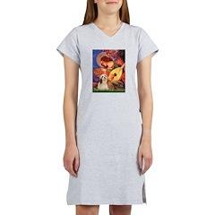 Mandolin / Lhasa Apso #4 Women's Nightshirt