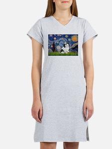 Starry / Lhasa Apso #2 Women's Nightshirt
