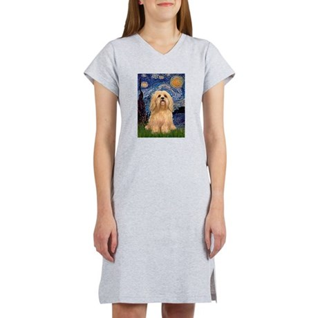 Starry / Lhasa Apso #9 Women's Nightshirt