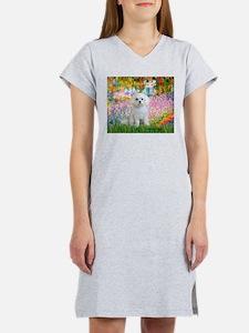 Garden / Maltese Women's Nightshirt