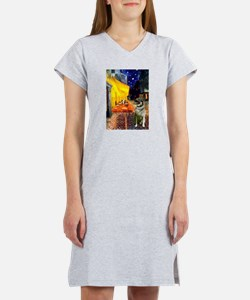 Cafe / Nor Elkhound Women's Nightshirt