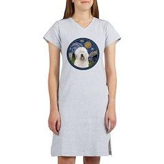 Starry Old English (#3) Women's Nightshirt