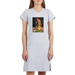 Fairies / Pekingese(r&w) Women's Nightshirt