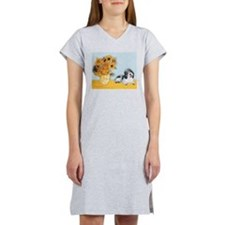 Sunflowers/PBGV Women's Nightshirt