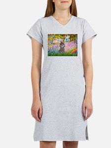 Garden / Poodle (Silver) Women's Nightshirt