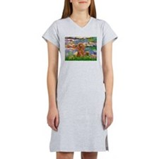 Lilies / Poodle (Apricot) Women's Nightshirt