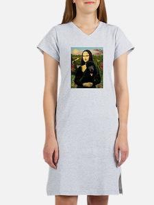 Mona / Std Poodle (bl) Women's Nightshirt