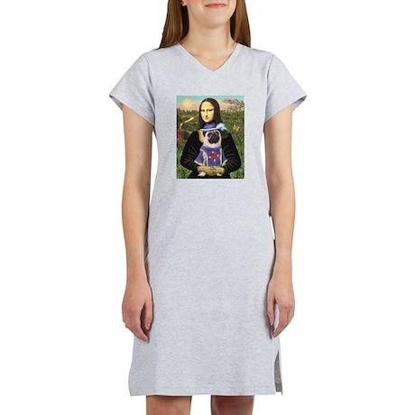 Mona & Sir Pug Women's Nightshirt