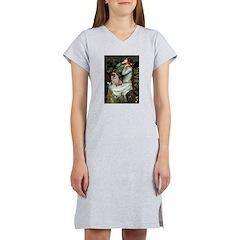Ophelia / Fawn Pug Women's Nightshirt