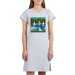 Sailboats / Rat Terrier Women's Nightshirt